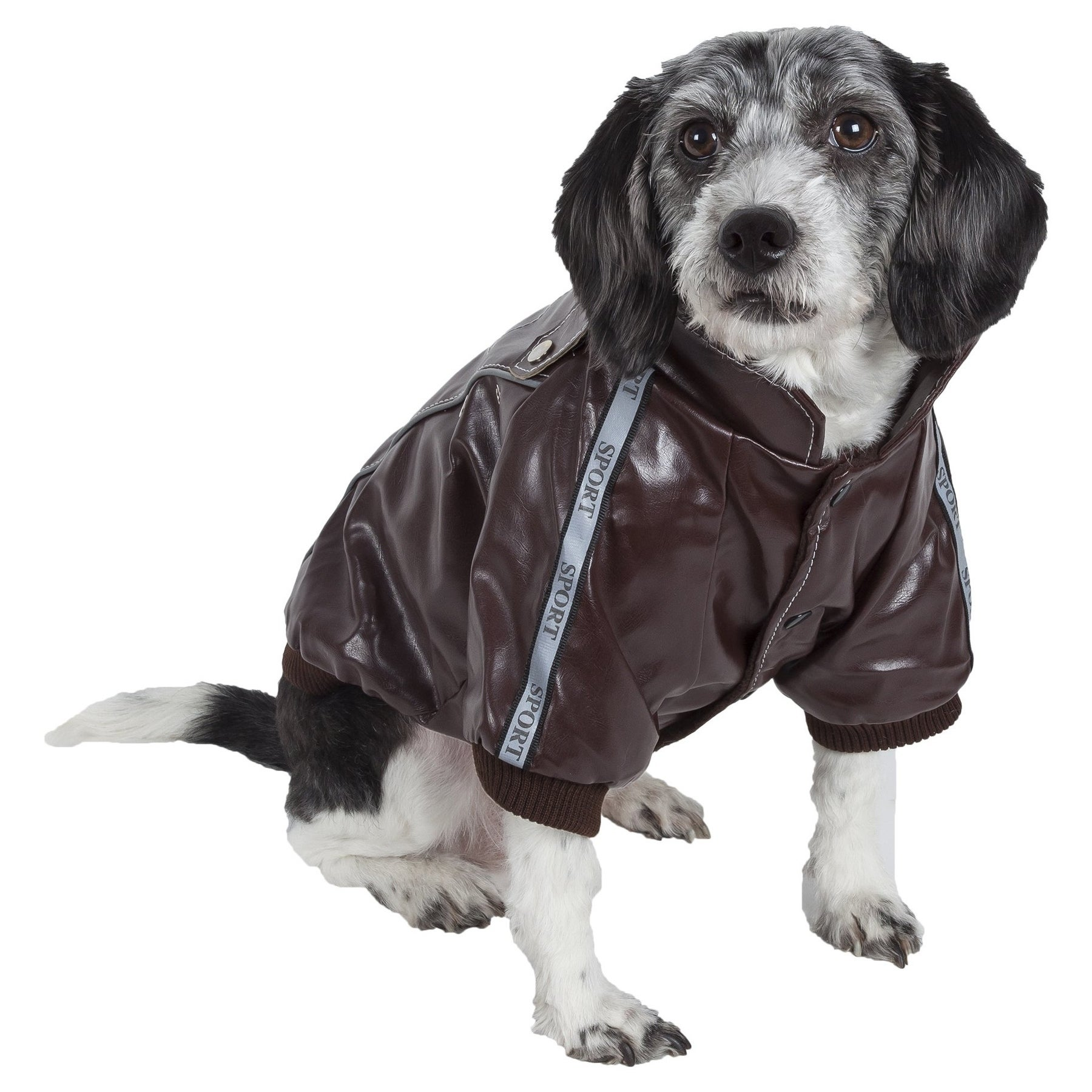 Pet Life Wuff-Rider Fashion Suede Stitched Pet Coat (Smal...