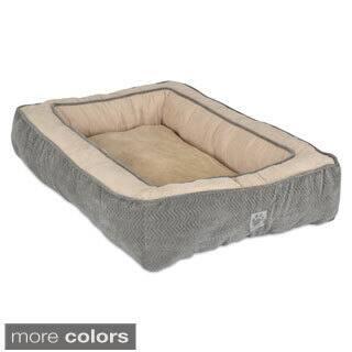 SnooZZy Chevron Texture Rectangle Bolster Pet Bed (Medium)|https://ak1.ostkcdn.com/images/products/9147921/SnooZZy-Chevron-Texture-Rectangle-Bolster-Pet-Bed-P16328219.jpg?impolicy=medium