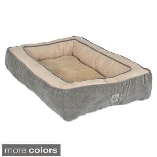 SnooZZy Chevron Texture Rectangle Bolster Pet Bed (Medium)