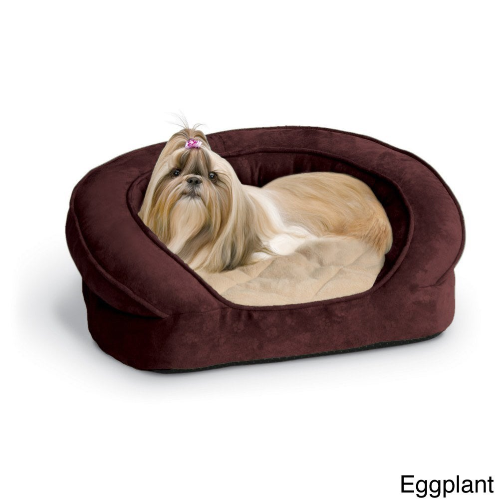 K&H Pet Products Deluxe Ortho Bolster Sleeper (Eggplant -...