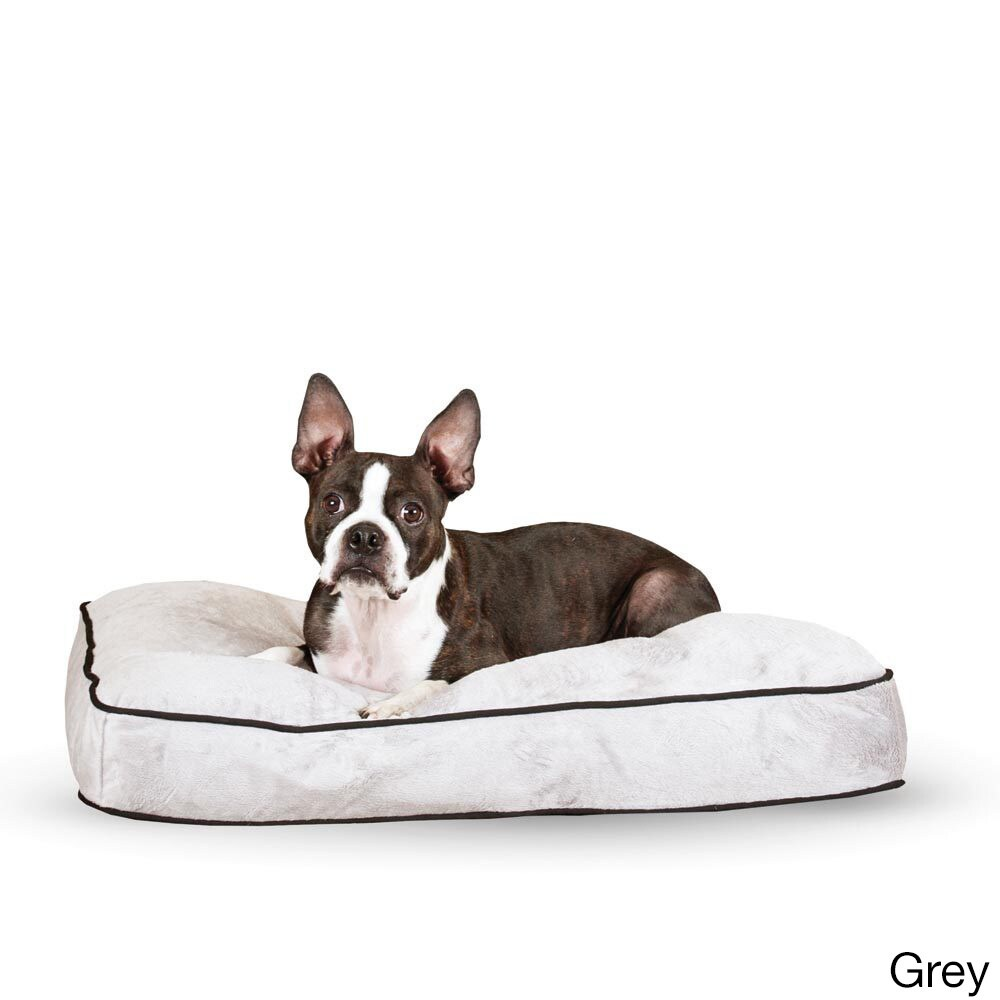 """K&H Pet Products Tufted Pillow Top Bed (Gray - 35"""" x 44"""")..."""