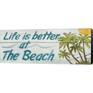 Avery Tillmon 'Life is Better at the Beach' Canvas Art