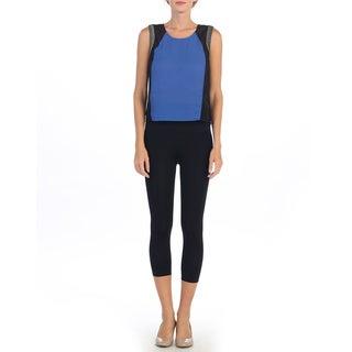Hadari Women's Sheer Colorblocked Sleeveless Top