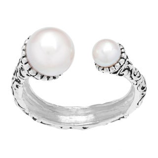 Annabelle Silver Overlay White Pearl Ring
