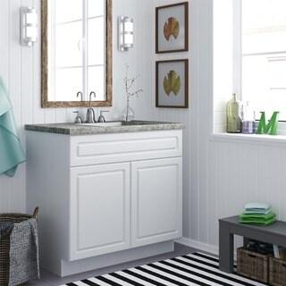 Altra 36-inch White Stipple Bath Vanity Cabinet