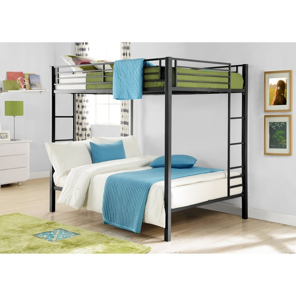 Shop Dhp Full Over Full Metal Bunk Bed Free Shipping Today