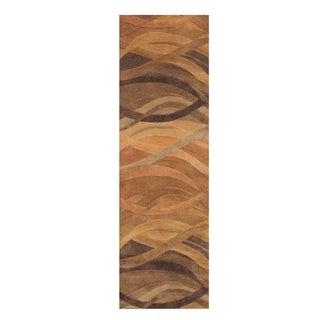 Alliyah Handmade Metro Classic Multi Color New Zeeland Wool Area Rug (3' x 10')