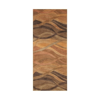 Alliyah Metro Classic Multi-color New Zealand Blend Wool Area Rug (4' x 10')