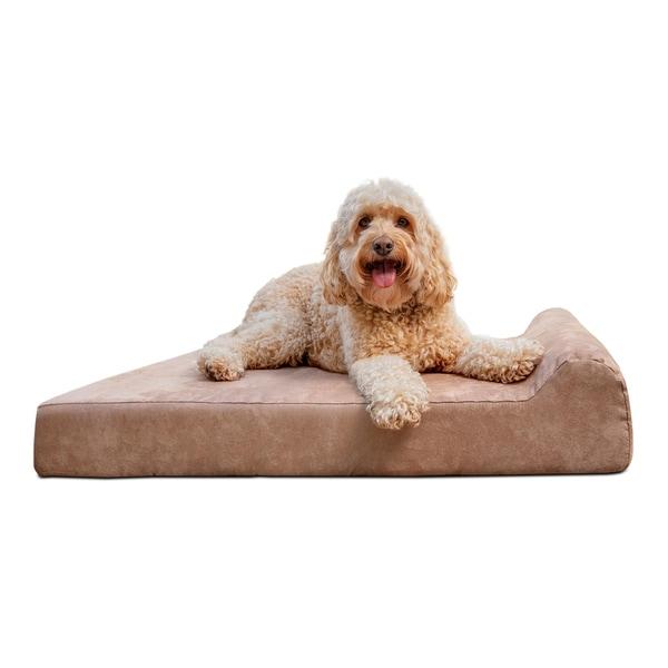 "Barker Junior 4"" Orthopedic Dog Bed - Headrest Edition. Opens flyout."