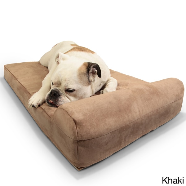 shop big barker mini pillowtop orthopedic dog bed with headrest free shipping today. Black Bedroom Furniture Sets. Home Design Ideas