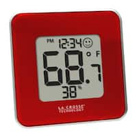 Red La Crosse Technology Indoor Temperature and Humidity Station