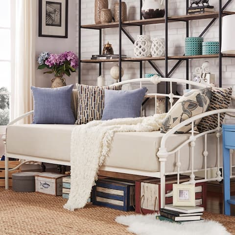 Lacey Round Curved Double Top Arches Victorian Iron Metal Daybed by iNSPIRE Q Classic
