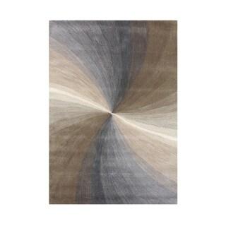 Alliyah Handmade Steel Grey New Zealand Blend Wool Rug - 8' x 10'