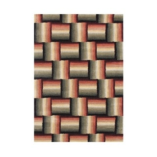 Alliyah Handmade Autumn Leaf New Zealand Blend Wool Rug (5' x 8')
