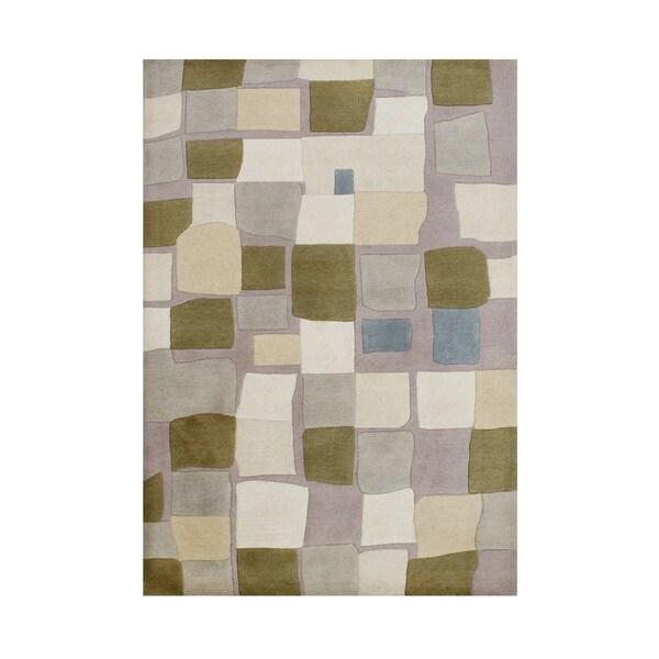 Alliyah Handmade Cuban Sand New Zealand Blend Wool Rug (5' x 8') - 5' x 8'
