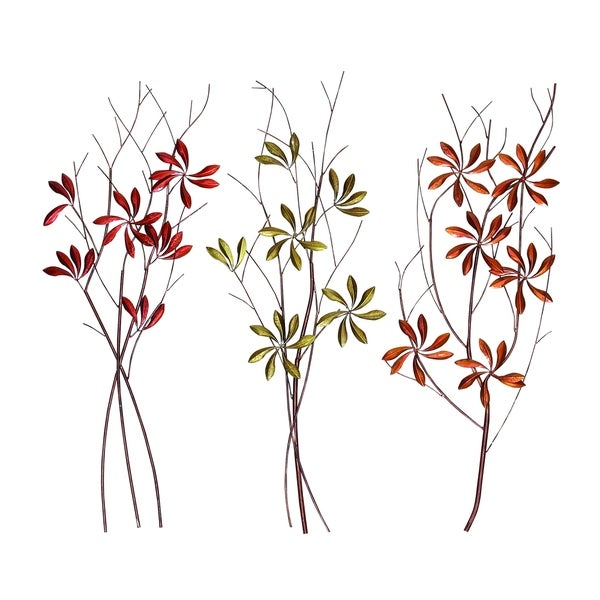 Metal Flowers Wall Decor 3 Assorted Free Shipping Today