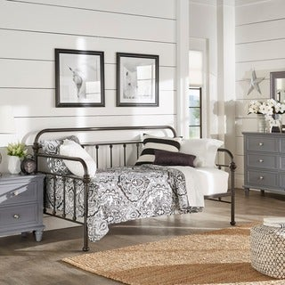 Giselle Antique Graceful Lines Iron Metal Daybed by iNSPIRE Q Classic