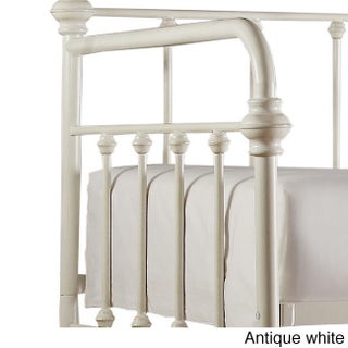 Giselle Antique Graceful Lines Iron Metal Daybed by iNSPIRE Q Classic (Option: Antique White)