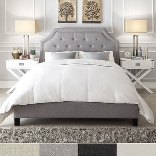 Grace Button Tufted Arched Bridge Upholstered Queen Bed by INSPIRE Q