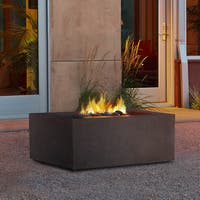 Baltic Square Nat Gas Kodiak Brown Fire Table by Real Flame
