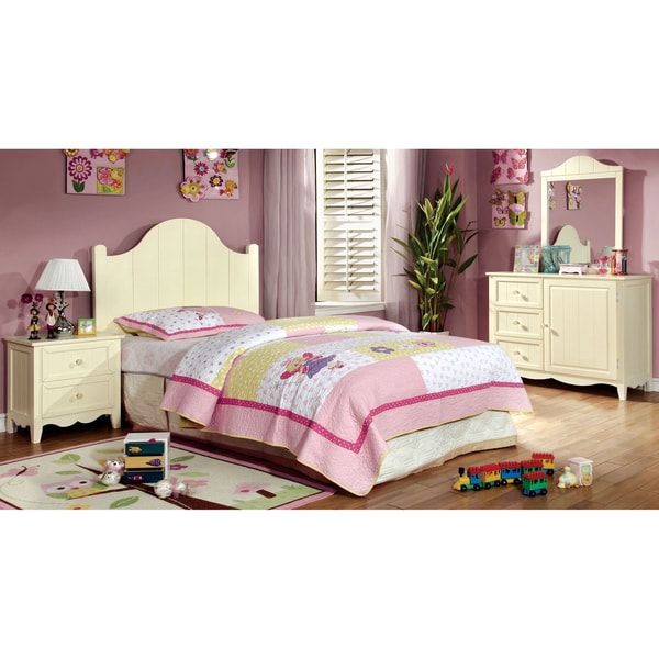 furniture of america lissiana 4 piece twin size bedroom