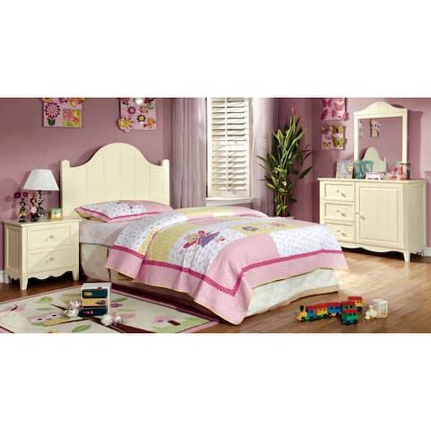Furniture of America Fram Modern Cream Twin 4-piece Bedroom Set