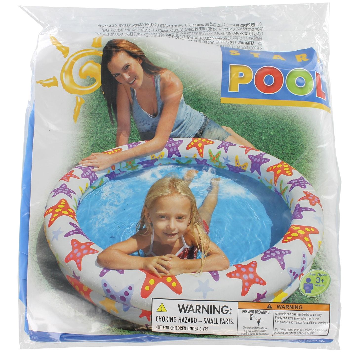 Intex Recreation Fancy Stars Pool (Kiddie pool), Blue (Pl...