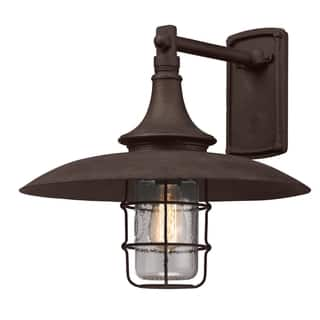 Wrought iron outdoor lighting for less overstock troy lighting allegany 1 light large wall sconce mozeypictures Gallery