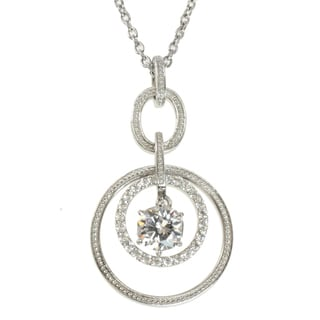 Michael Valitutti Sterling Silver Cubic Zirconia 'Circles' Necklace