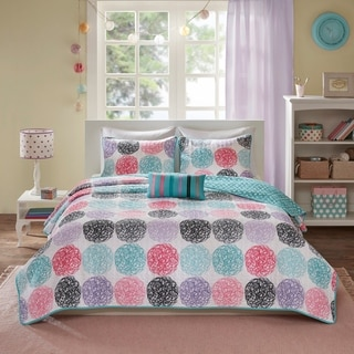 Mi Zone Audrina Purple 4-piece Coverlet Set