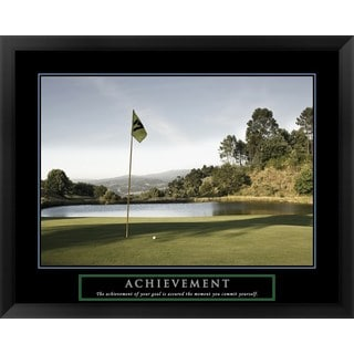 Handmade 'Achievement-Golf' Framed Art