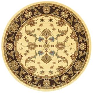 LNR Home Adana Cream/ Brown Contemporary Area Rug (9' Round)