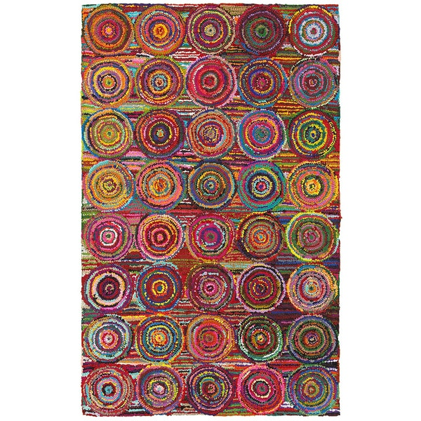 LNR Home Layla Multi-colored Abstract Area Rug (7'9 x 9'9)
