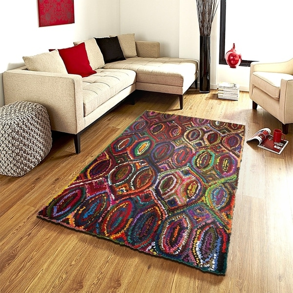 LR Home Layla Multi Contemporary Abstract Rug ( 7'9 x 9'9 ) - 8' x 10'