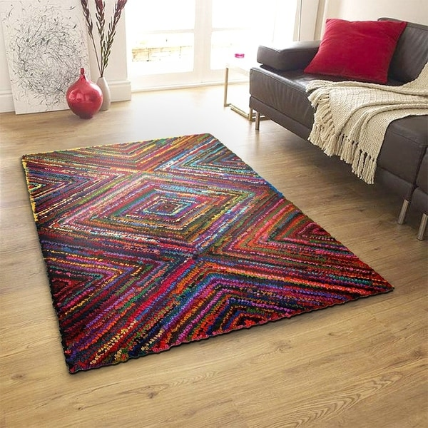 LR Home Layla Multi Contemporary Abstract Rug ( 5' x 7'9 ) - 5' x 7'9""