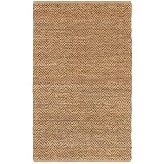 LNR Home Natural Fiber Brown Braided Area Rug (5'3 x 7'5)