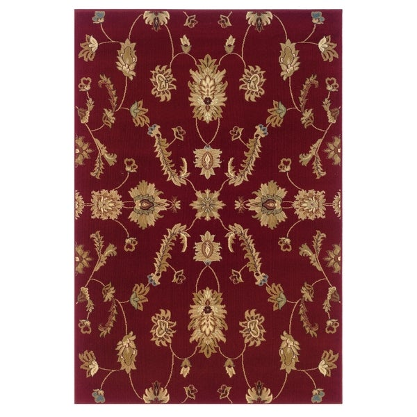LR Home Adana Red Plush Indoor Rectangle Area Rug (9'2 x 12'6)