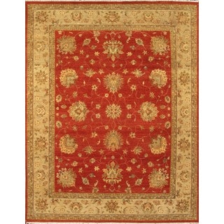 Hand Knotted Ziegler Rust Beige Vegetable Dyes Wool Rug (6' x 9')