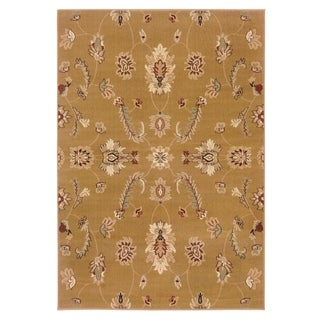 "LNR Home Adana Gold Plush Indoor Rectangle Area Rug 9'2"" X 12'6"""