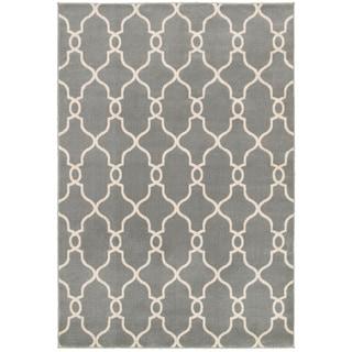 "LNR Home Adana Gray Plush Indoor Rectangle Area Rug 7'9"" x 9'9"""