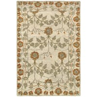 LR Home Contemporary Oushak Natural / Rust Rectangle ( 9'2 X 12'6 ) - 9'2 x 12'6