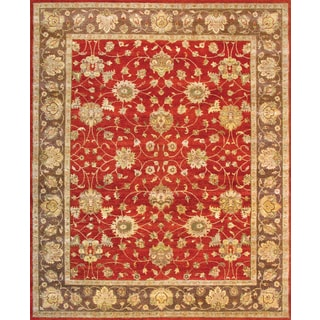 Hand Knotted Ziegler Rust Brown Vegetable Dyes Wool Rug (8' x 10')