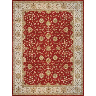 Hand Knotted Ziegler Rust Beige Vegetable Dyes Wool Rug (8' x 10')