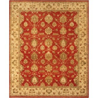 Hand-knotted Ziegler Rust Beige Vegetable Dyes Wool Rug (9' x 12')