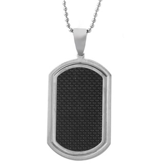 Stainless Steel Men's 24-inch Ball Chain Dog Tag