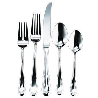 Ginkgo Celine Traditional 20-Piece Flatware Set