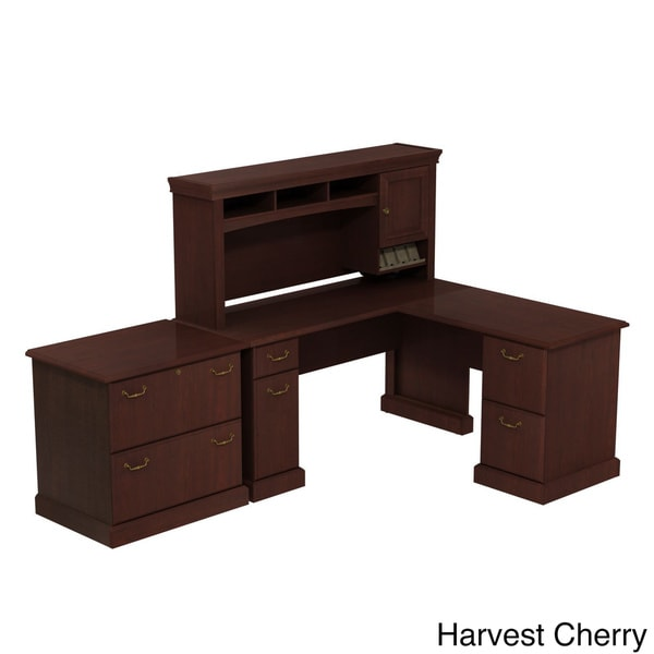 Bbf Syndicate Desk With Hutch Storage And Lateral File