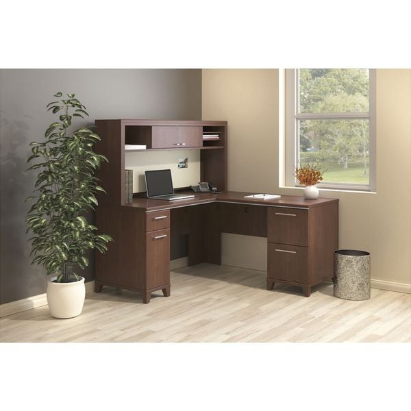BBF Enterprise L-Desk with Hutch and Lateral File - Free Shipping