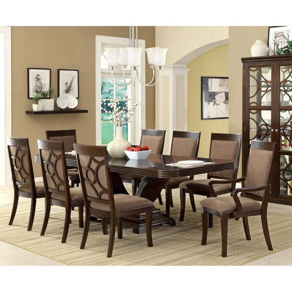 Overstocked Furniture: Shop Furniture Of America Woodburly 9-Piece Dining Set