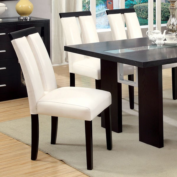 Furniture Of America Lumina Two Tone Dining Chairs (Set Of 2)